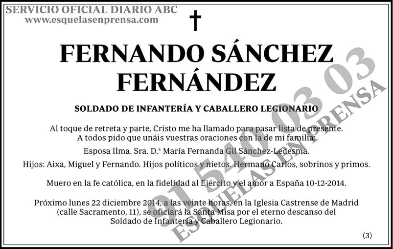 Fernando Sánchez Fernández